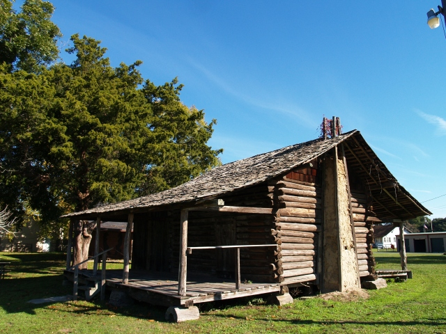 Log cabin built in 1889 at the Merryville, Louisiana Historical Society