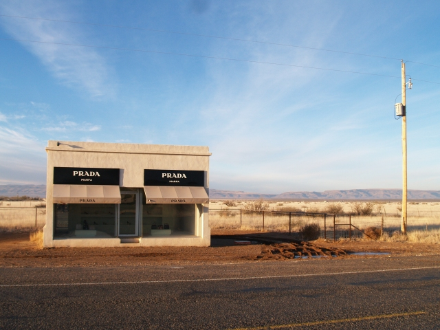 Just outside Marfa, Texas