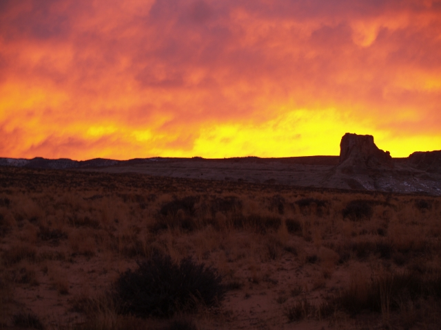 The high desert on fire (not photo shopped at all...In fact, none of my pictures are altered in any way)