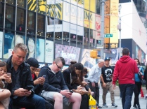 Living through your phone (Time Square)