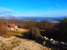 Mid way through the cross island hike on Krk